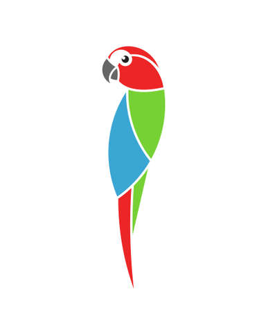 Macaw parrot Tropical bird Isolated parrot on white