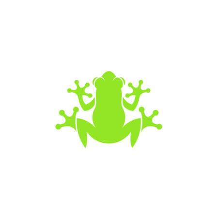Red eyed tree frog. Isolated icon on white
