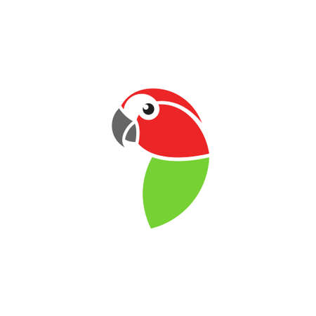 Red macaw.  Isolated parrot