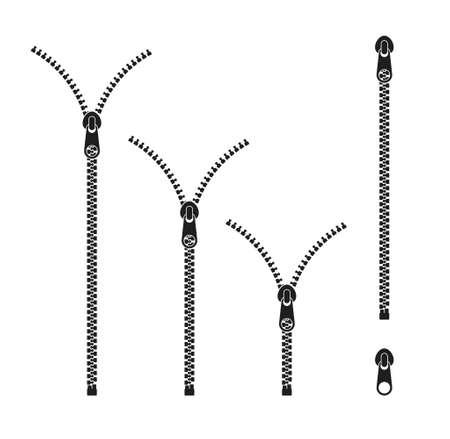 Zipper Icon set.