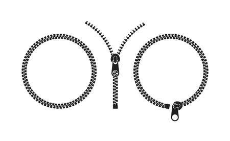 Zipper Icon set on white