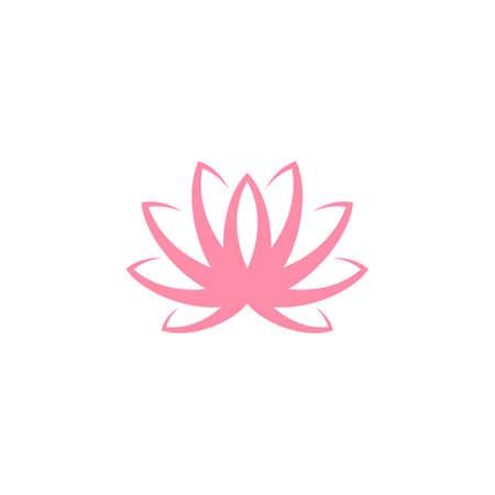Lotus Water lily on white Illustration