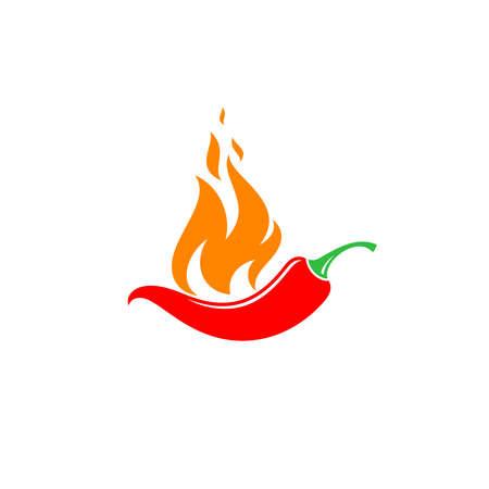 Chili pepper on white