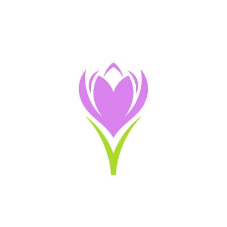 Fioletowy kwiat na białym tle Ilustracje wektorowe