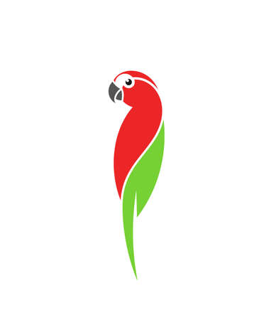 Macaw parrot on white Иллюстрация