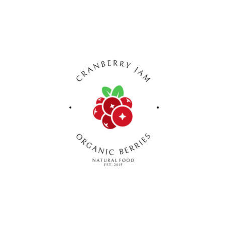 Cranberry jam. Logo template