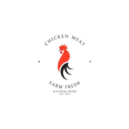 Chicken meat. Logo template Ilustração