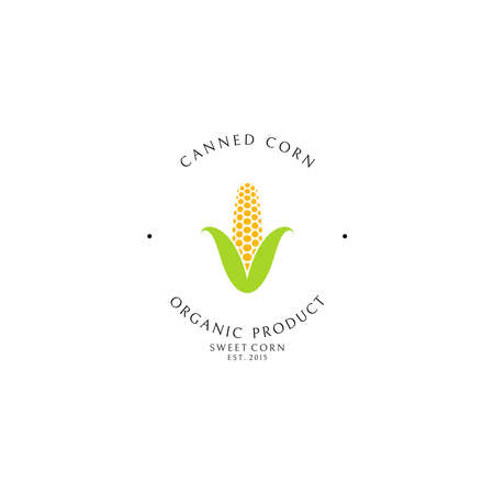 Canned corn. Logo template