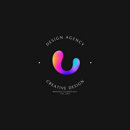 Design agency. Logo template Ilustrace
