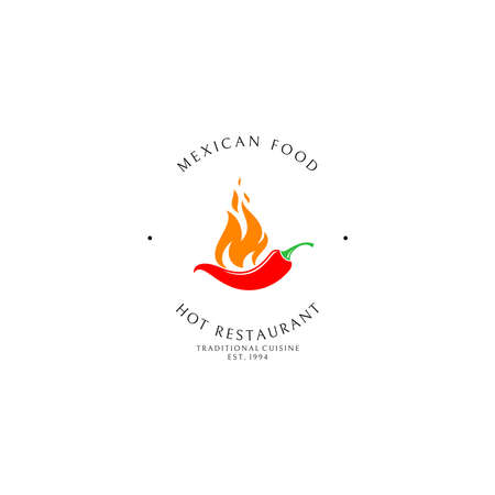 Mexican food. Logo template