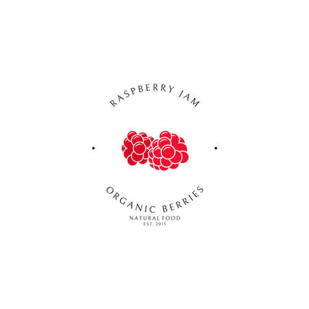 Raspberry jam. Logo template