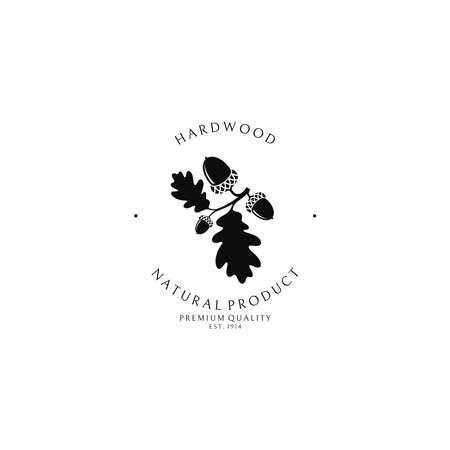 Hardwood. Logo template Banque d'images - 144174959