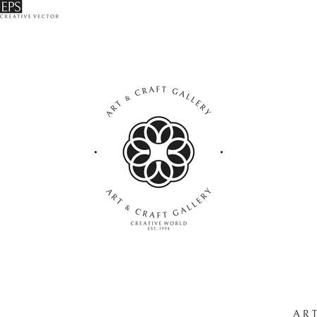 Art and craft gallery. Logo template