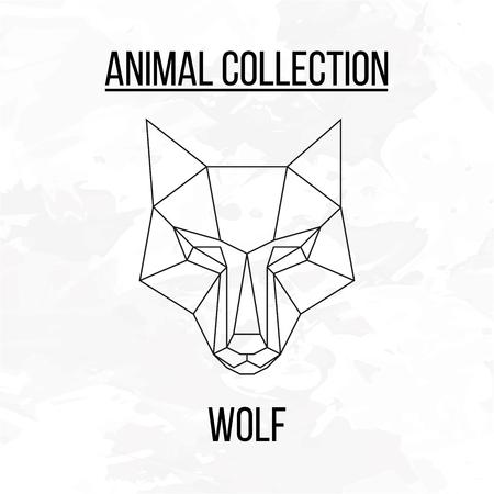 animal head: Geometric animal wolf head background