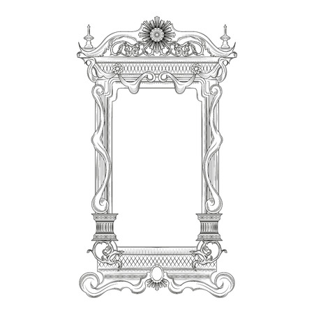 mirror and frame: Vintage baroque style mirror frame