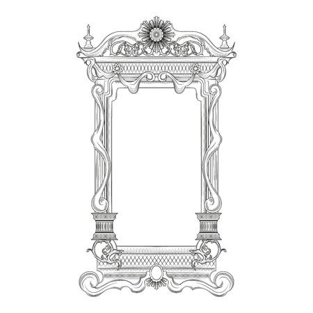 mirror frame: Vintage baroque style mirror frame
