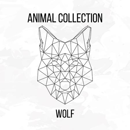 animal: Geometric animal wolf head background