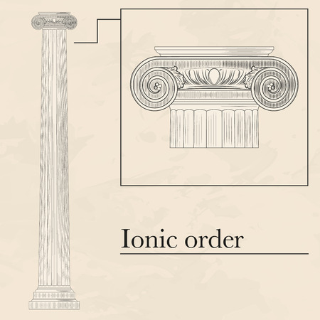 doric: Classical hellenic architectural doric style order