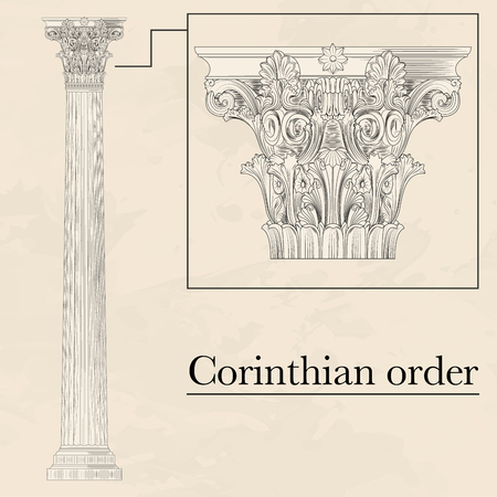 hellenic: Classical hellenic architectural corinthian style order