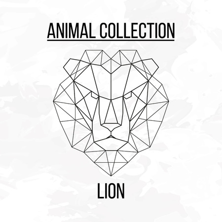 Geometric animal lion head background