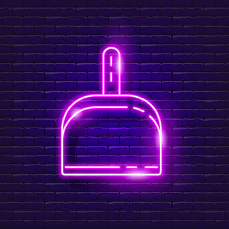 Scoop for Cleaning neon sign. Vector illustration for design. Cleaning service concept Ilustración de vector