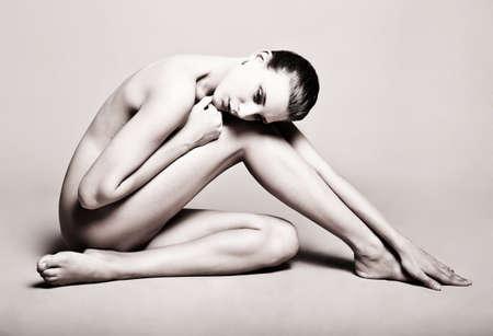 mujeres eroticas: Moda retrato de una bella joven mujer sexy
