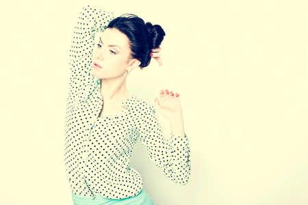 wor: Portrait of a fresh beautiful fashion mod