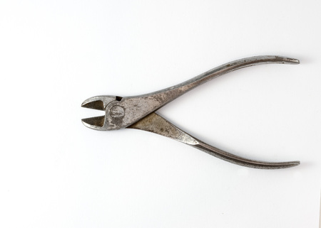 Cutting pliers on white background