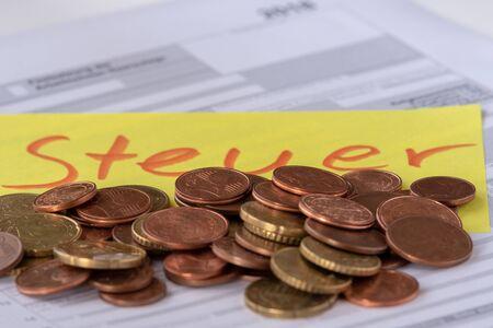 Konzept zum Stichtag der Steuererklärung in Deutschland am 31.07.