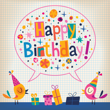 birthday hat: Happy Birthday card
