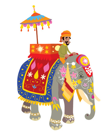 Decorated Elephant at an Indian Festival