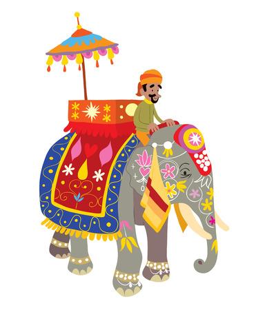 Elefante decorado en un Festival de la India Foto de archivo - 26173475