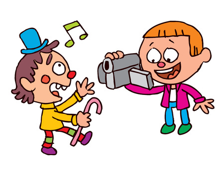 Kids video shooting Illustration