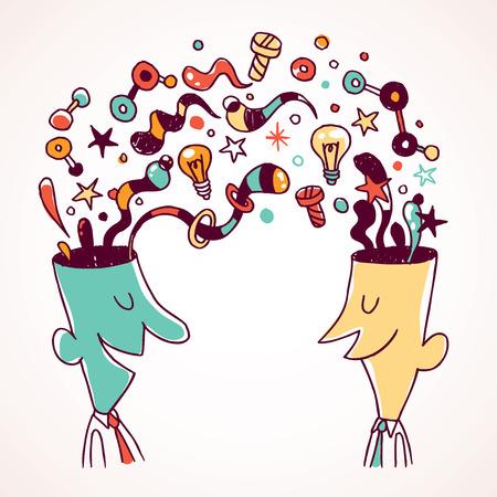 L'échange d'idées Banque d'images - 26196353