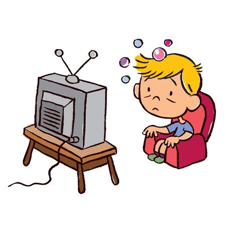 아이가 텔레비전에 중독