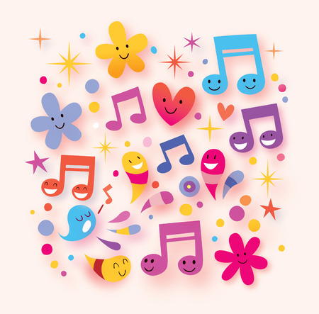 sings: happy music background