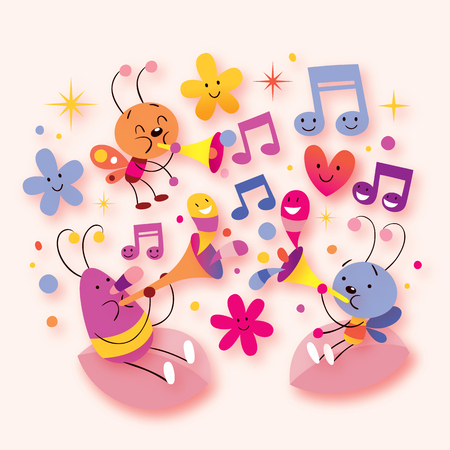 escarabajo: música escarabajo dulce Vectores