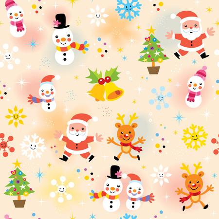 christmas baby: cute Christmas pattern