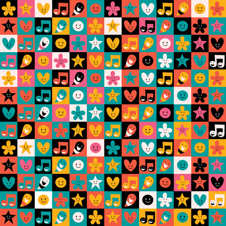 fun pattern Vector
