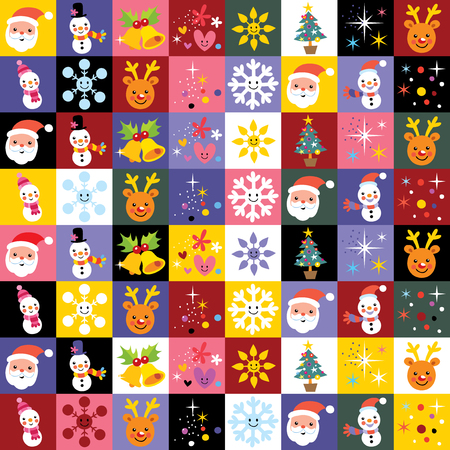 christmas pattern: Merry Christmas and Happy New Year pattern