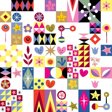 arte abstrata: cora Ilustra��o