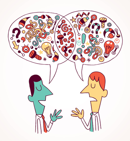 business relationship: opinions   ideas Illustration