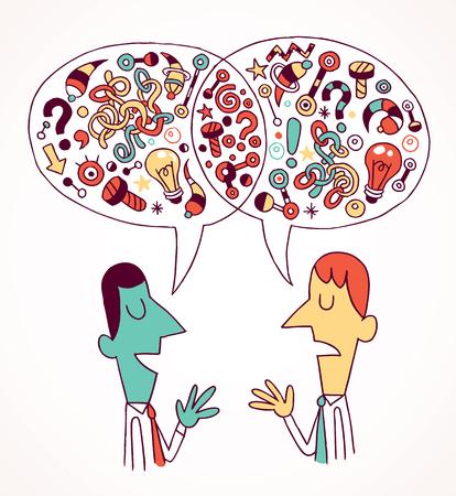 professional relationship: opinions   ideas Illustration