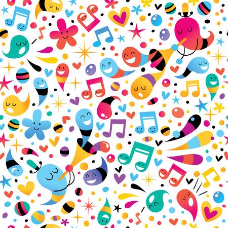 notas musicales: patr�n de parte
