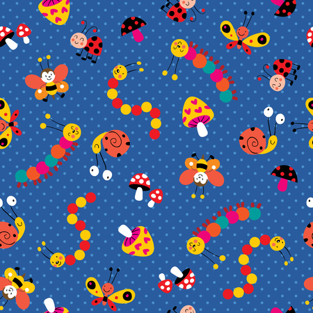 Meadow colorful pattern Vector