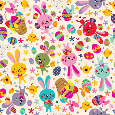 cartoon easter basket: Easter pattern