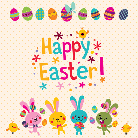 easter message: Happy Easter greeting card