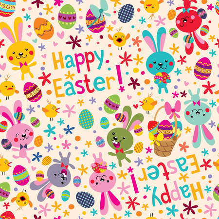 easter message: Happy Easter pattern