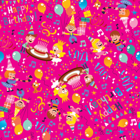 birthday party background: Happy Birthday party pattern Illustration