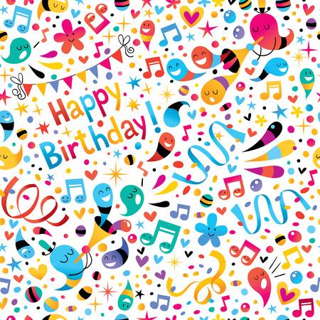 catchy: Birthday pattern Illustration